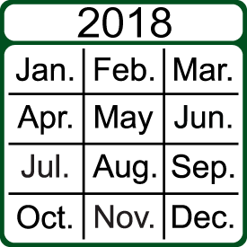 2018 Performance Measures Calendar